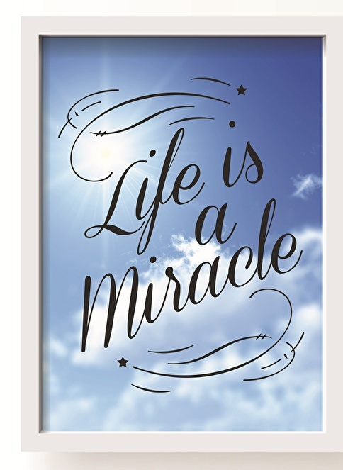 All About Wall Life Is A Miracle Poster Renkli